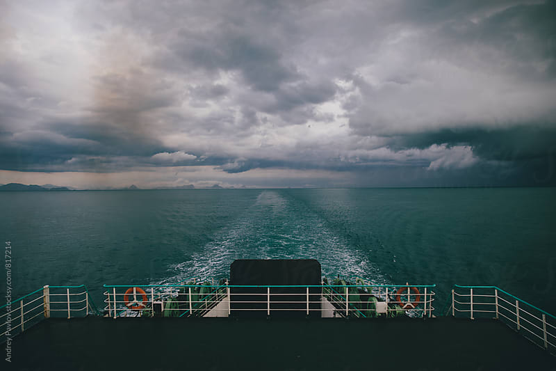 View from the ferry boat. by Andrey Pavlov for Stocksy United