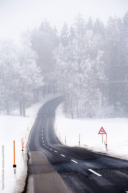 Winter road by Robert Kohlhuber for Stocksy United
