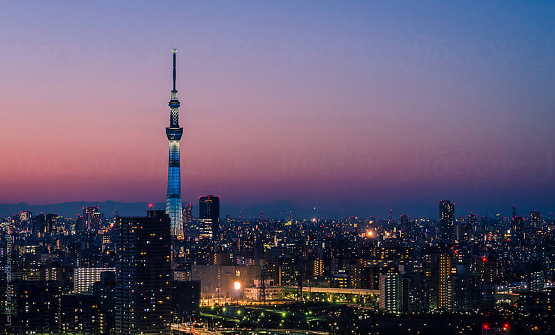 The Skytree Over Tokyo by Leslie Taylor for Stocksy United