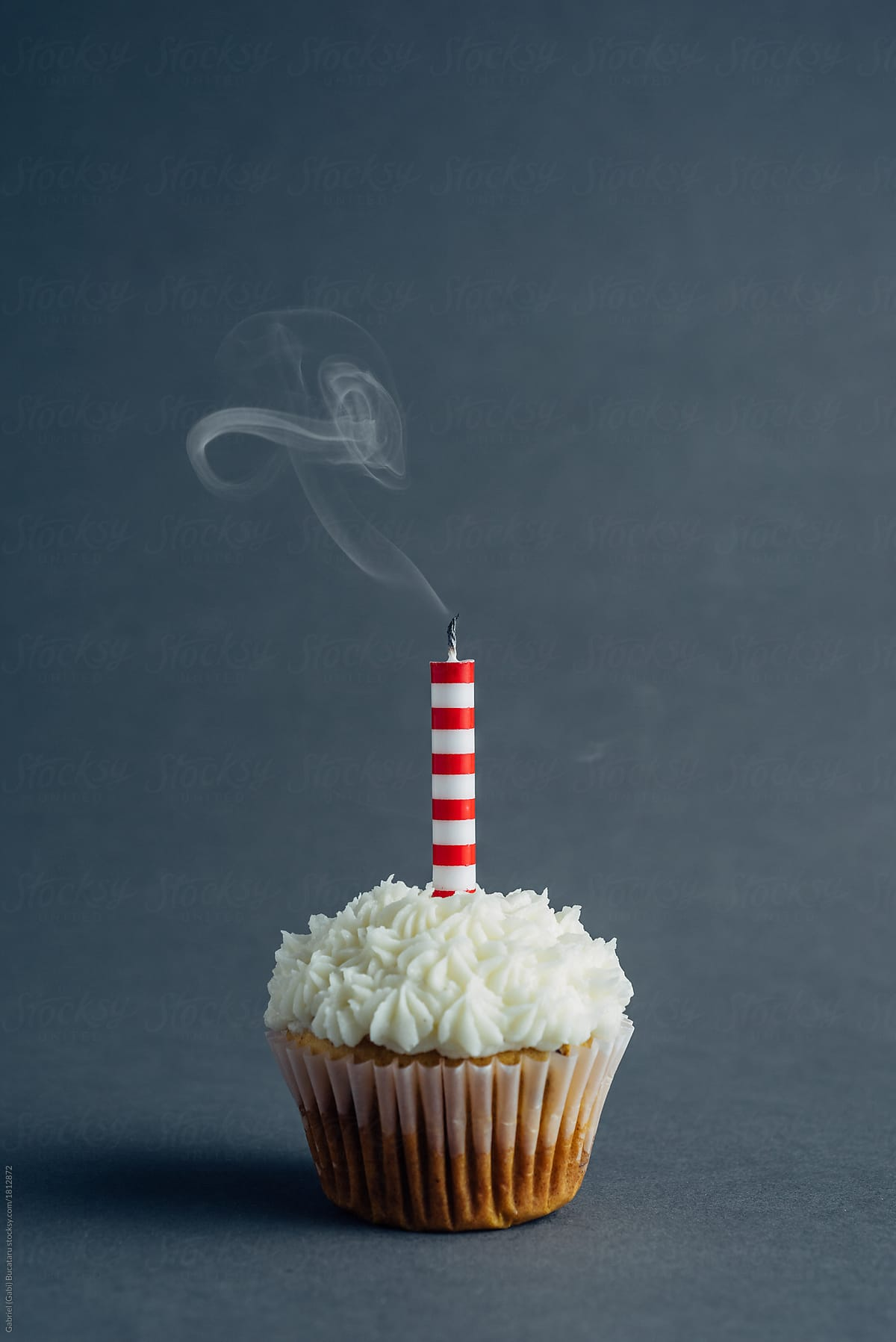 Birthday Cake With A Smoking Candle