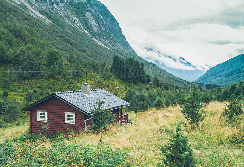 Norwegian Mountain Cabin  by VICTOR TORRES for Stocksy United