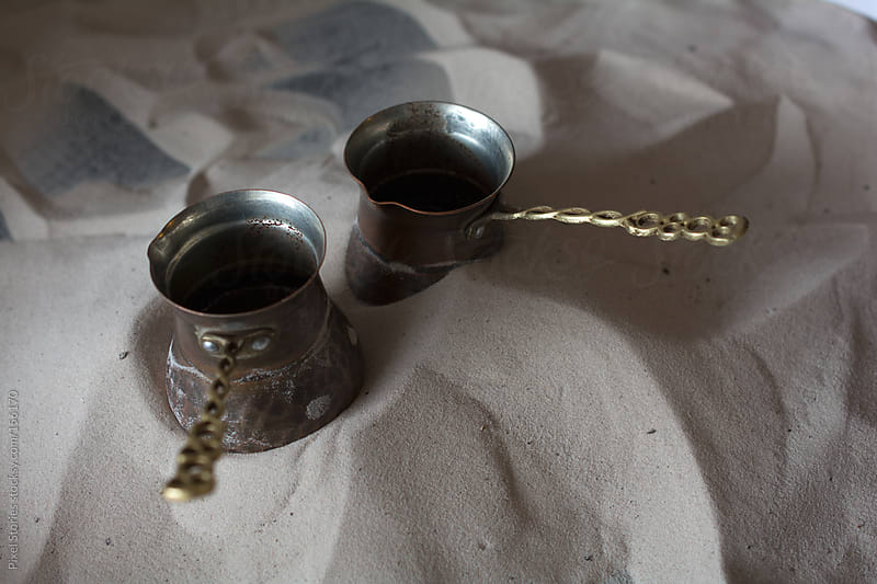Preparing Turkish coffee by Pixel Stories for Stocksy United