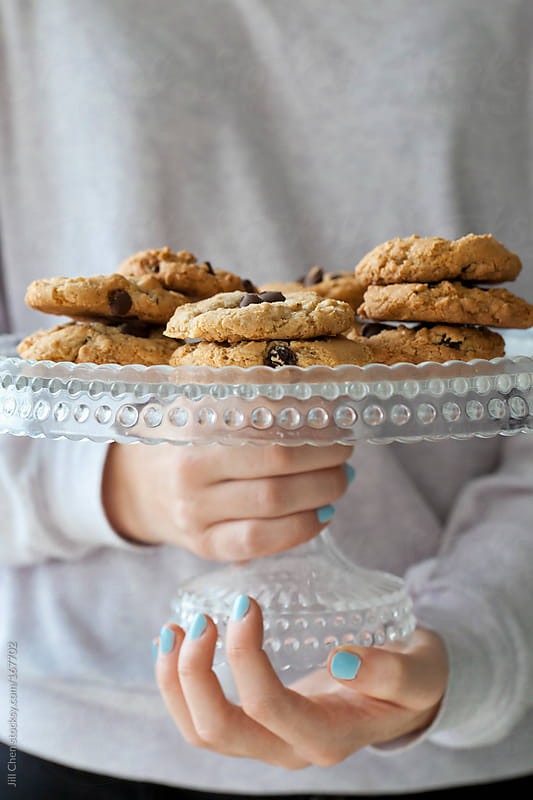 Chocolate Chip Oatmeal Raisin Cookies by Jill Chen for Stocksy United