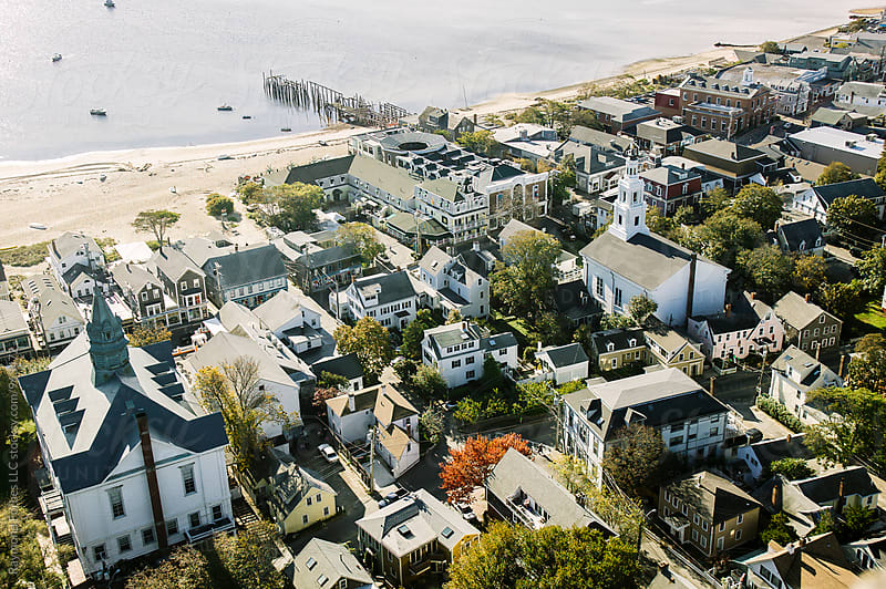 Aerial View Provincetown, Massachusetts by Raymond Forbes LLC for Stocksy United