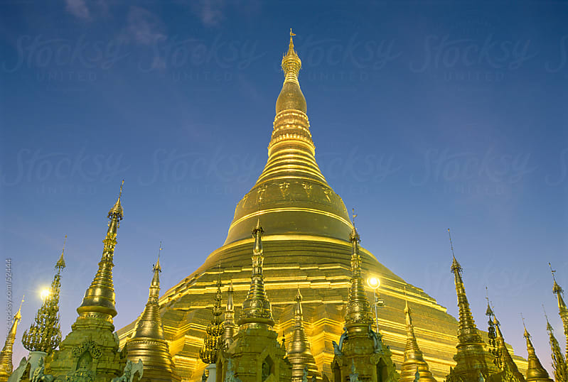Shwedagon Pagoda, Yangon (Rangoon), Myanmar (Burma), Asia by Gavin Hellier for Stocksy United
