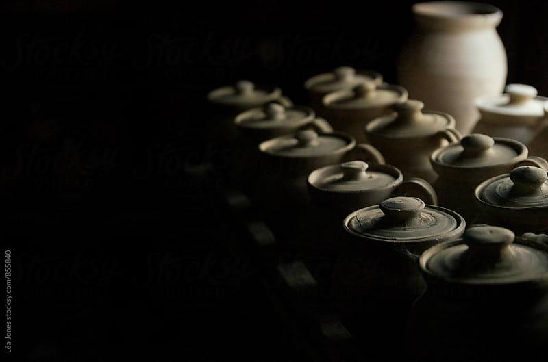 pots of pottery by Léa Jones for Stocksy United