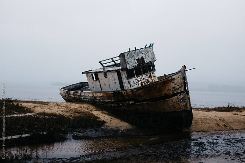 Shipwreck at Point Reyes by Dylan M Howell Photography for Stocksy United