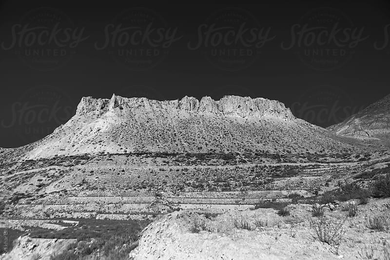 Dry landscape of Mustang in black and white. by Shikhar Bhattarai for Stocksy United