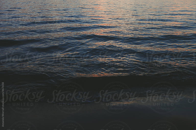 Dark Ripples at Sunset by Amanda Worrall for Stocksy United