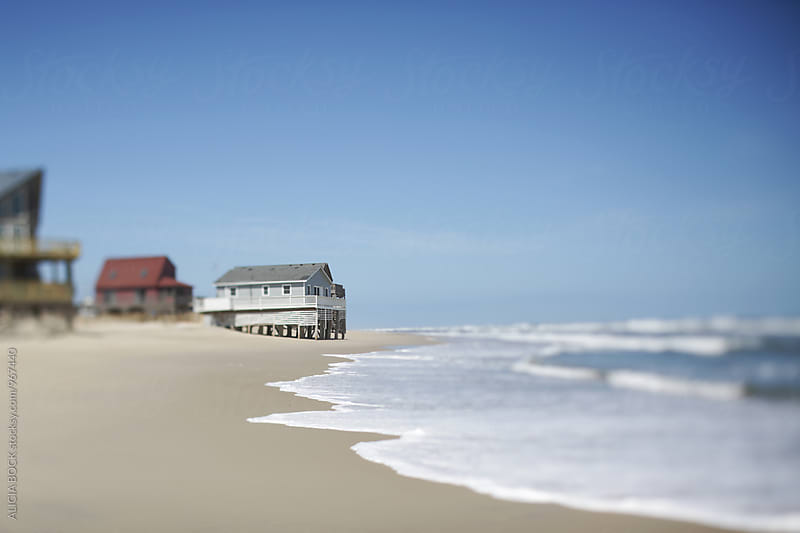 Coastal Homes On The Atlantic Ocean On A Clear Day by ALICIA BOCK for Stocksy United