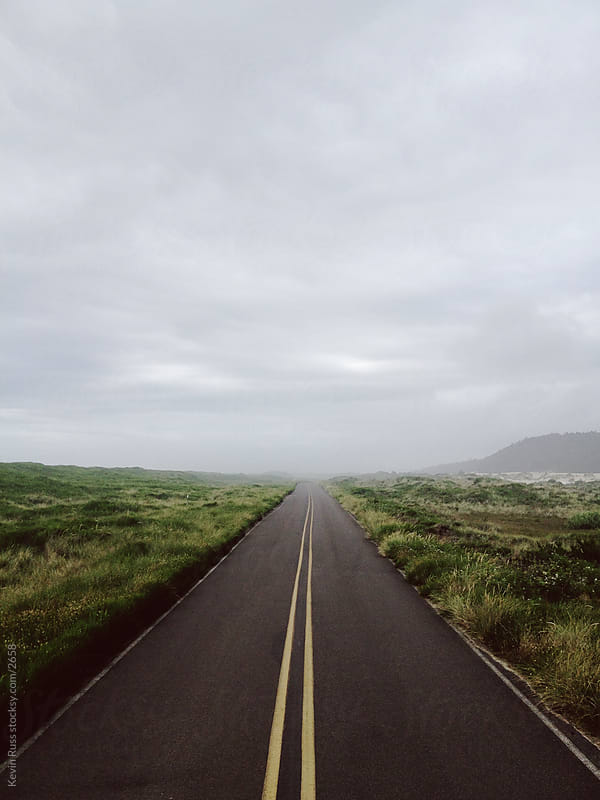 Straight Overcast Road by Kevin Russ for Stocksy United