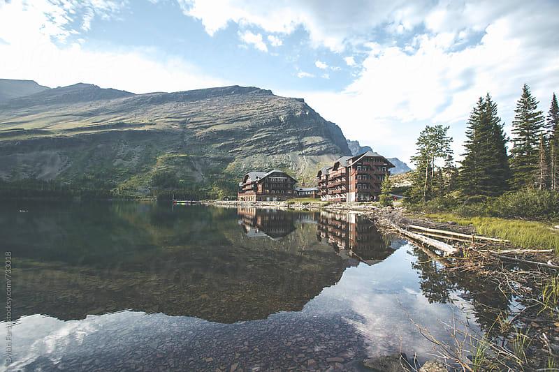Many Glacier Hotel by Dylan Furst for Stocksy United