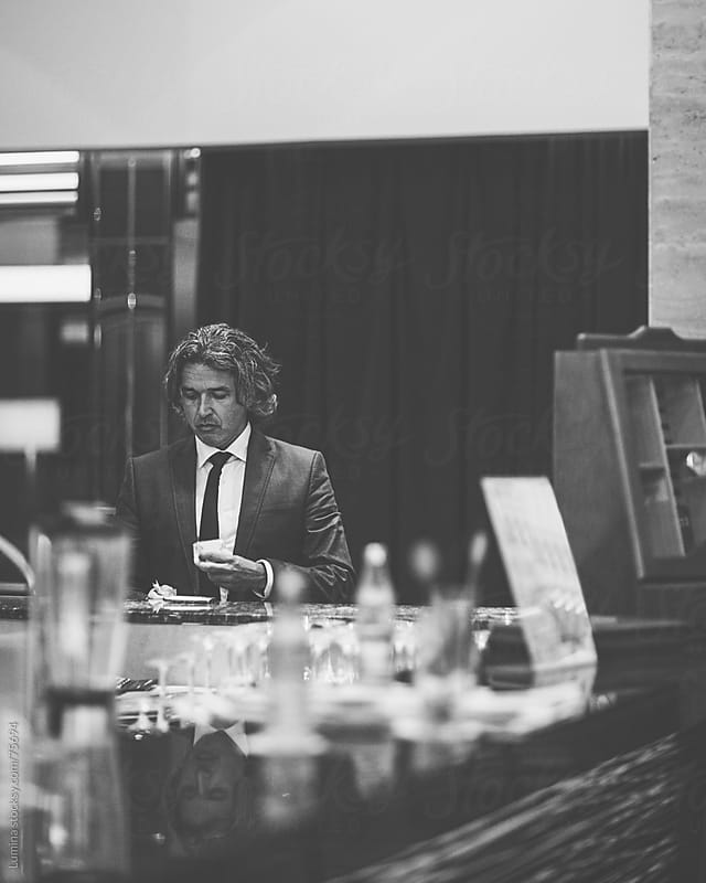 Businessman Drinking Espresso at a Bar by Lumina for Stocksy United