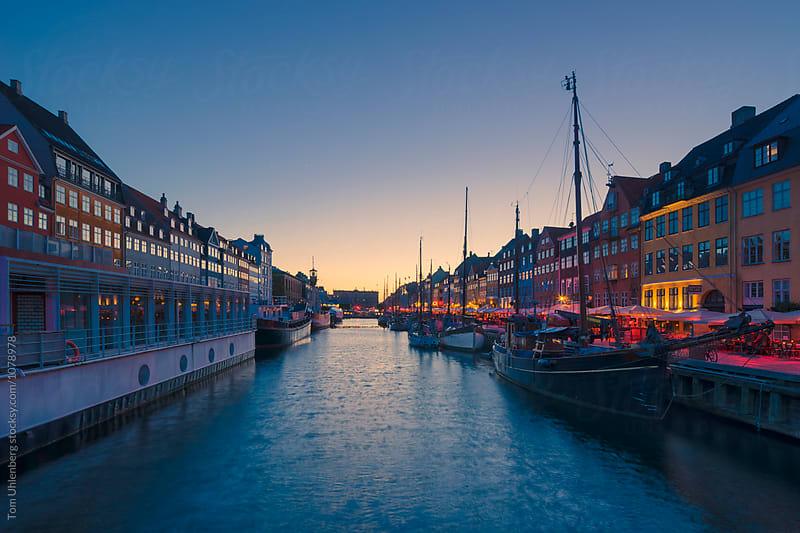 Copenhagen, Denmark - Nyhavn at Twilight by Tom Uhlenberg for Stocksy United