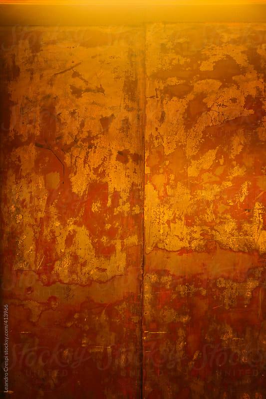 Rusty elevators door by Leandro Crespi for Stocksy United