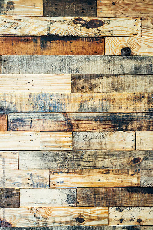 Vertical pattern of a kindling wood panel close up by Alejandro Moreno de Carlos for Stocksy United