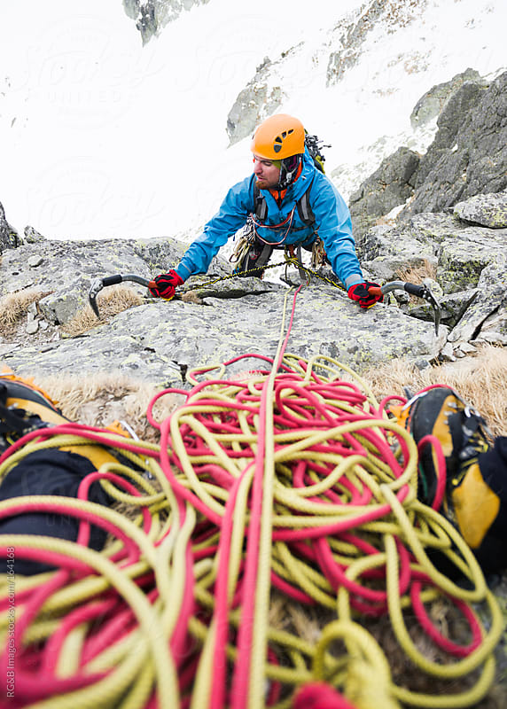 Mountain climber by RG&B Images for Stocksy United