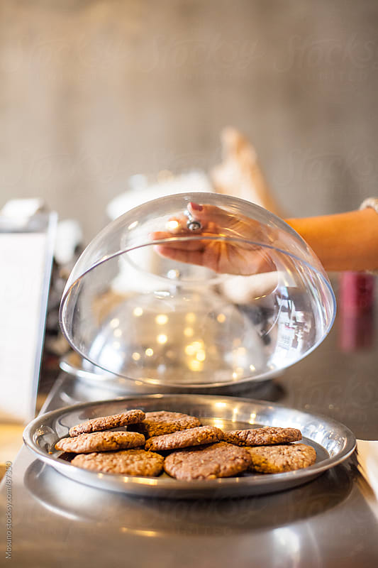 Freshly Baked Cookies on a Plate by Mosuno for Stocksy United