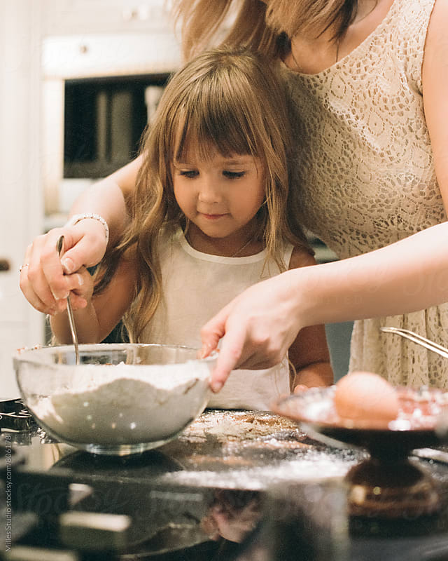 Mother and Daughter at Home by Milles Studio for Stocksy United