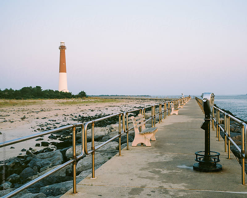 Barnaget Light Seawalk, Long Beach Island, New Jersey by Cameron Whitman for Stocksy United