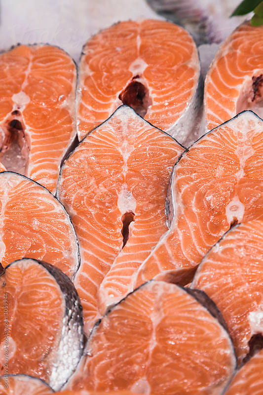 Salmon steaks by Borislav Zhuykov for Stocksy United