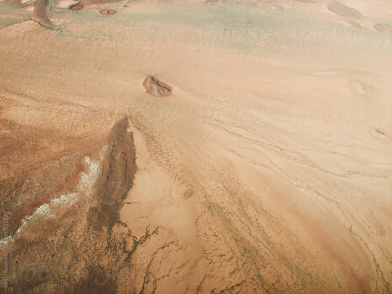 Aerial View of Arizona Desert by Kevin Russ for Stocksy United