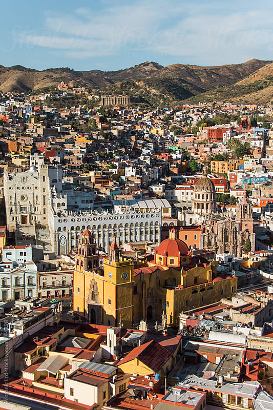 Colorful city of Guanajuato, Mexico by Per Swantesson for Stocksy United