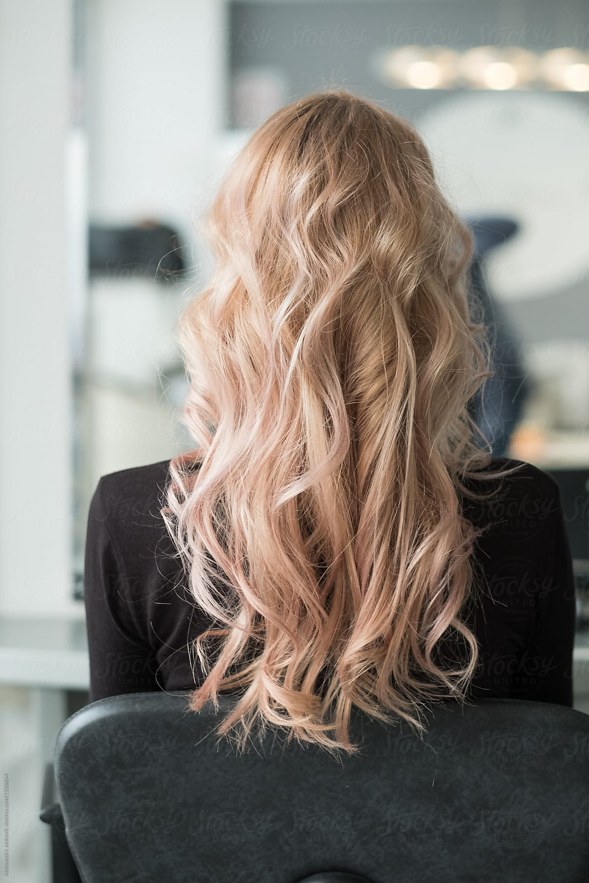 Back View Of Woman With Curly Long Hair Stocksy United