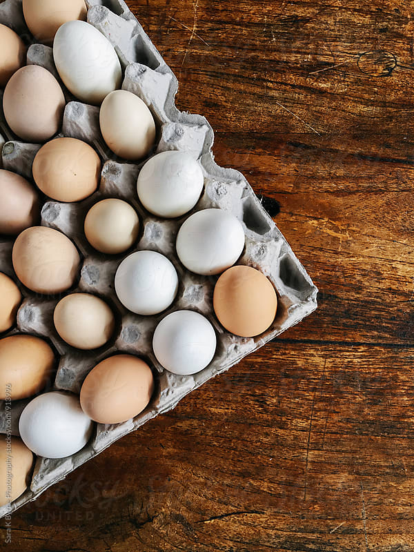 Fresh Eggs by Sara K Byrne Photography for Stocksy United
