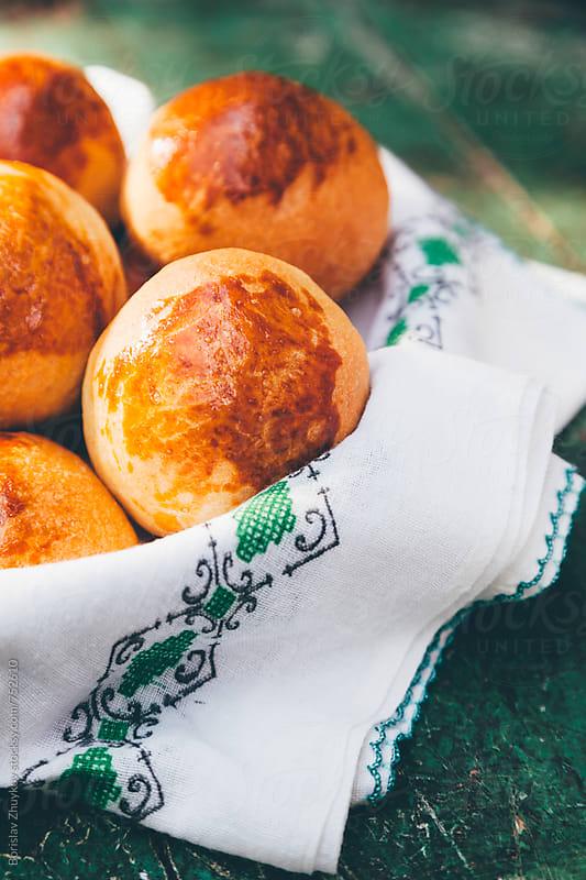 Freshly baked rolls by Borislav Zhuykov for Stocksy United
