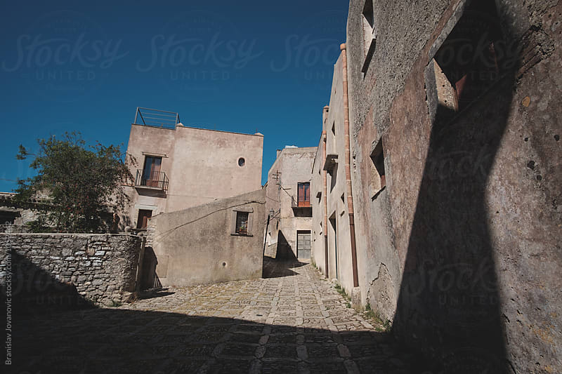 Narrow streets of a historic town Erice by Branislav Jovanovic for Stocksy United