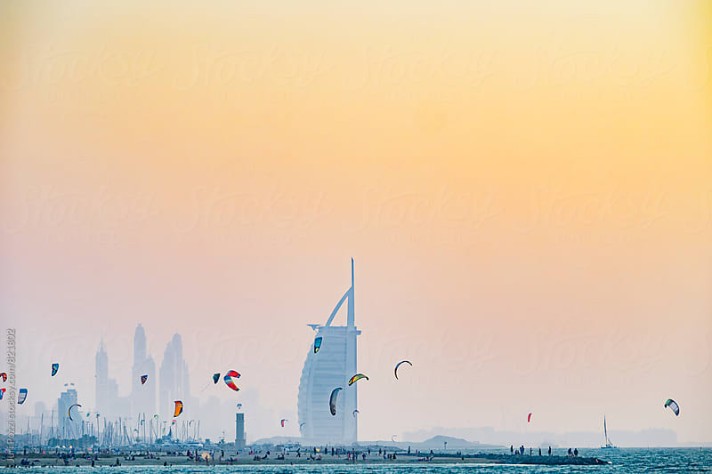 Jumeirah beach in Dubai by Juri Pozzi for Stocksy United