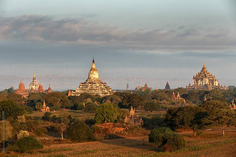 Stupas all around Bagan, Myanmar by Jino Lee for Stocksy United