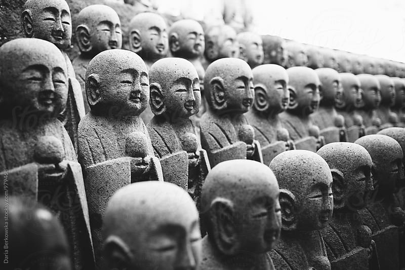 Stone Monk Statute in Japan by Daria Berkowska for Stocksy United