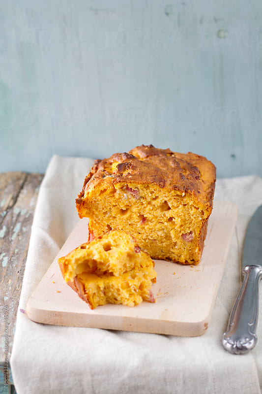 Sweet potato bread with bacon and gorgonzola by Noemi Hauser for Stocksy United