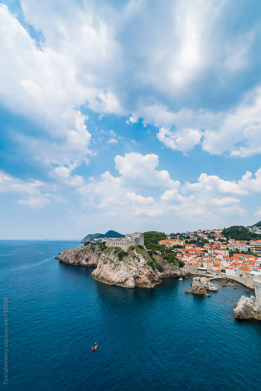 The City of Dubrovnik and the Adriatic Coast, Croatia, Europe by Tom Uhlenberg for Stocksy United
