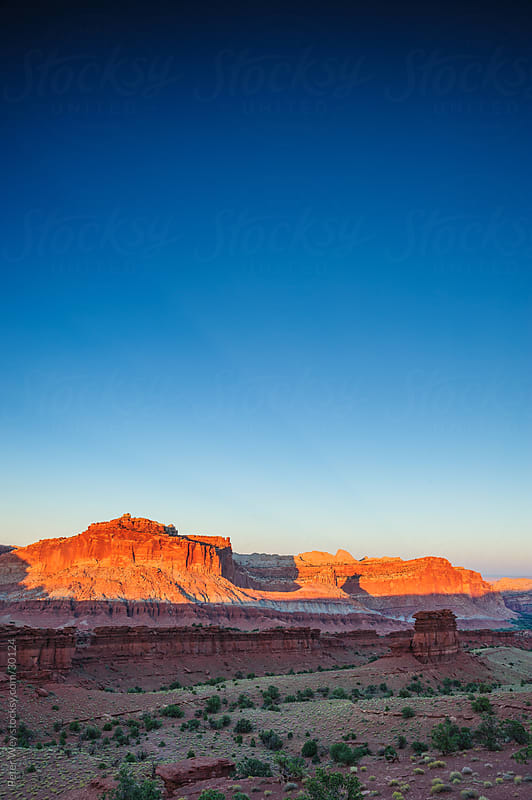 Sunset panorama in Capitol Reef National Park by Peter Wey for Stocksy United