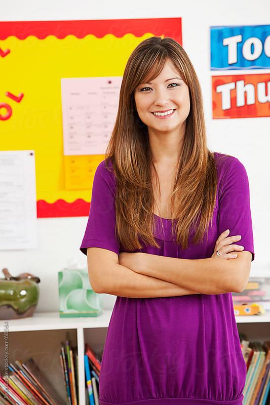 Classroom: Pretty Asian American Teacher by Sean Locke for Stocksy United
