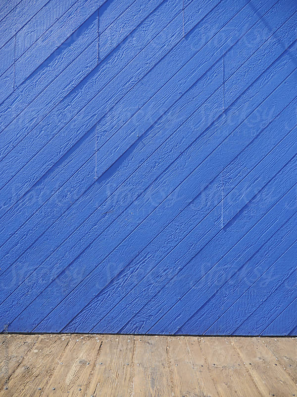 Blue painted wooden wall by rolfo for Stocksy United