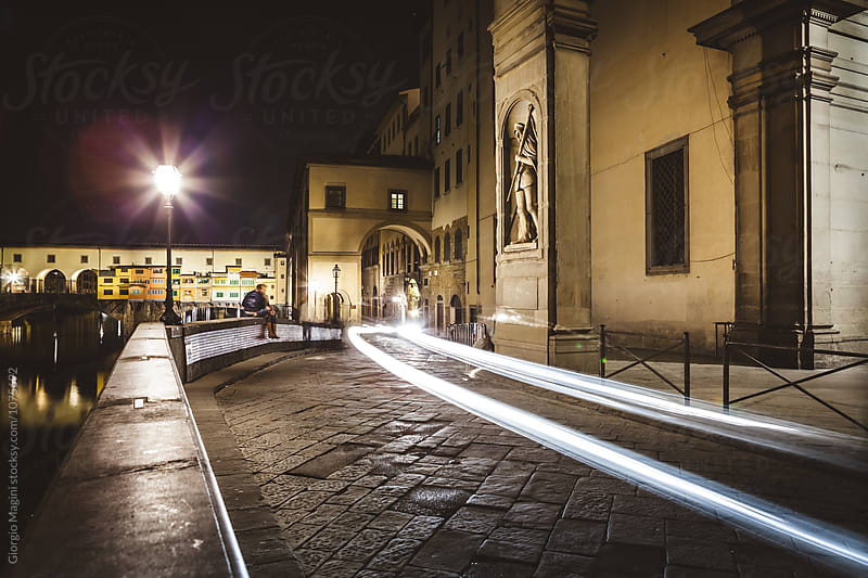 Magic Lights in Florence, Uffizi and Ponte Vecchio by Giorgio Magini for Stocksy United