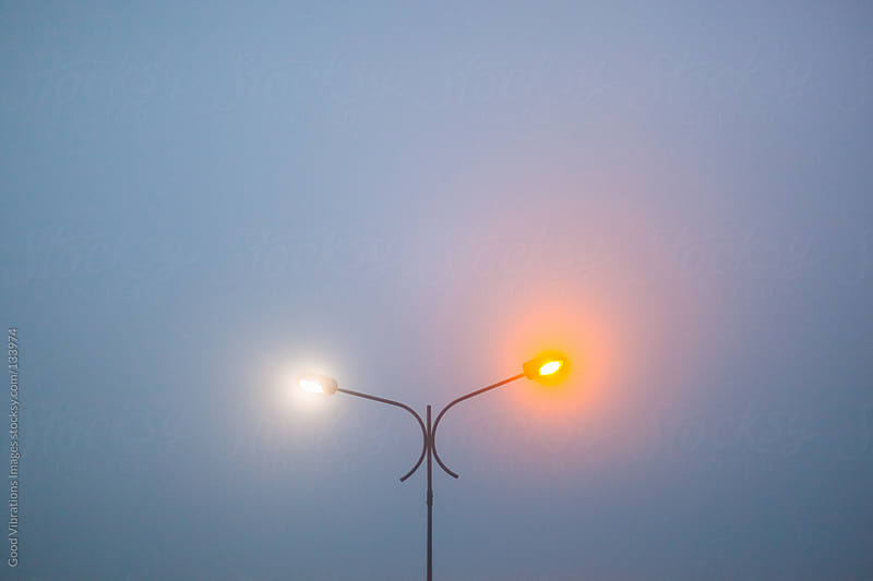Street Lamp in the Fog by Good Vibrations Images for Stocksy United