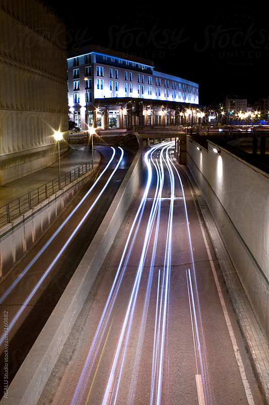 Bridge of Tetuan with light trails by ACALU Studio for Stocksy United