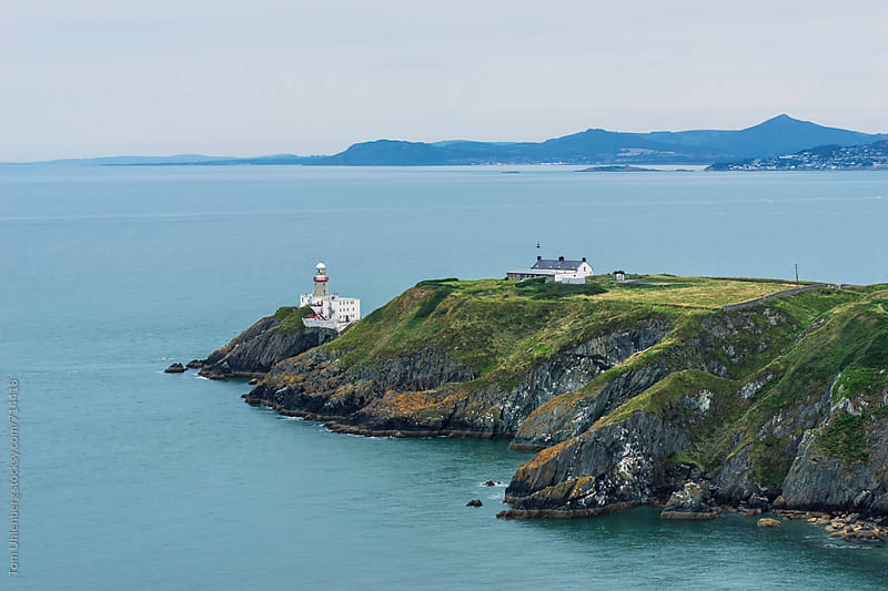 The Baily Lighthouse and Dublin Bay, Ireland by Tom Uhlenberg for Stocksy United