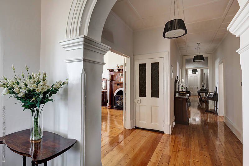 Entrance to grand Victoria home by Rowena Naylor for Stocksy United