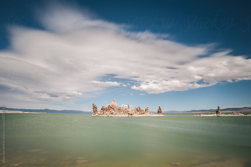 Mono lake, South Tufa.  Long exposure.   by Shannon Aston for Stocksy United