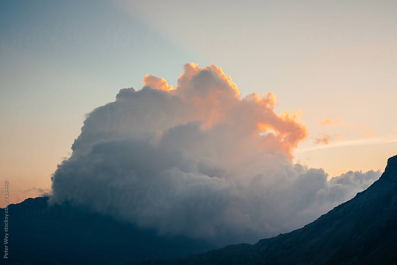 Cloudscape at sunrise by Peter Wey for Stocksy United