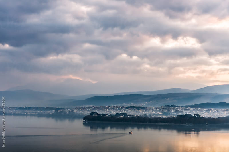 Pamvotis Lake at Ioannina, Greece by Helen Sotiriadis for Stocksy United