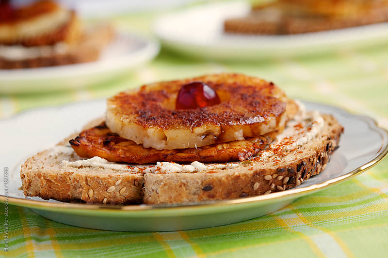 Tempeh Pineapple Toasts by Harald Walker for Stocksy United