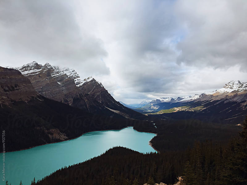Peyto Lake by Kara Mercer for Stocksy United