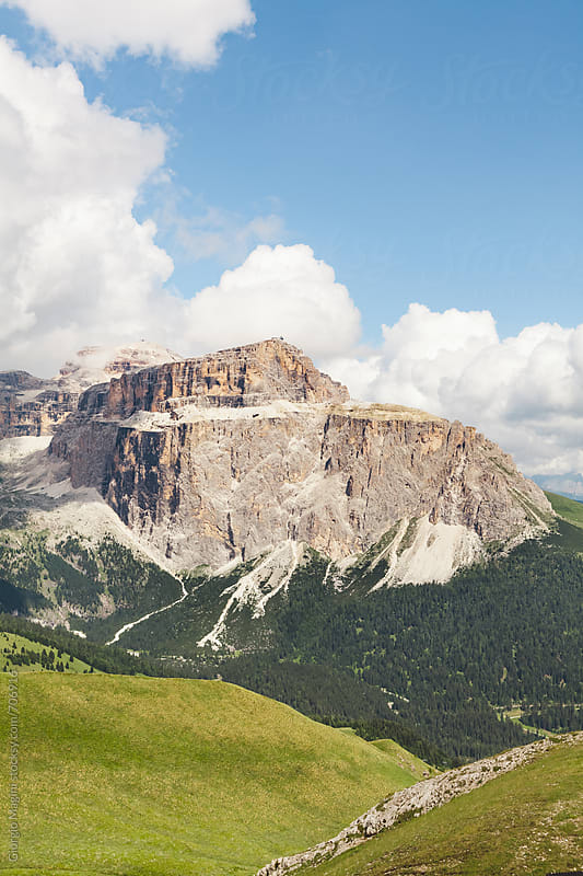 Rocky Dolomite Mountain in Italian Alps by Giorgio Magini for Stocksy United